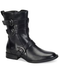 Born | Black Cincy Mid-shaft Boots | Lyst