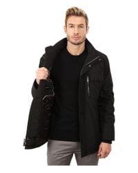 Calvin Klein | Black Poly Jacket With Bib for Men | Lyst