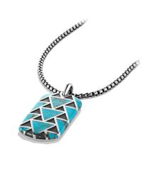 David Yurman | Blue Frontier Tag with Turquoise for Men | Lyst
