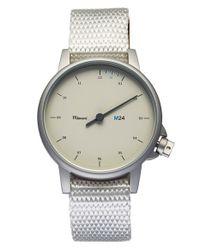 Miansai - White 'm24' Round Nylon Strap Watch for Men - Lyst