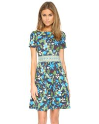 Tory Burch | Blue Flare Dress | Lyst