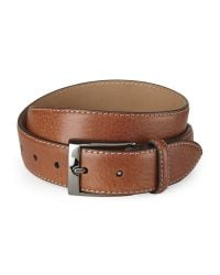 Trafalgar | Brown Tonal Side Stitch Leather Belt for Men | Lyst