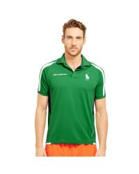 Ralph Lauren | Green Mesh-paneled Jersey Polo Shirt for Men | Lyst