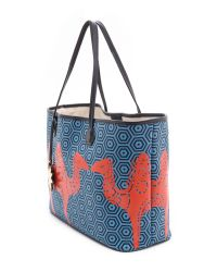 Jonathan Adler - Blue Animal Duchess E W Tote Dusk-true Navy - Lyst