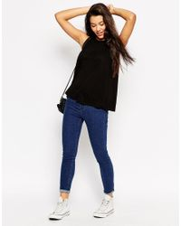 ASOS - Black Swing Vest With Drape 2 Pack Save 10% - Lyst