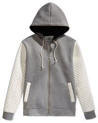 American Rag | Metallic Men's Neoprene Quilted Sweatshirt for Men | Lyst