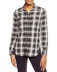 PAIGE - Black Trudy Plaid Shirt - Lyst