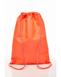 Forever 21 - Orange Classic Drawstring Backpack for Men - Lyst