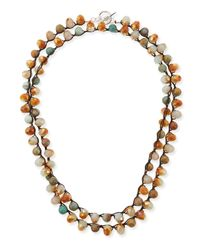 An Old Soul - Metallic Multi-bead Necklace - Lyst