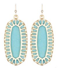 Kendra Scott | Blue Dayla Oblong Earrings with Box | Lyst