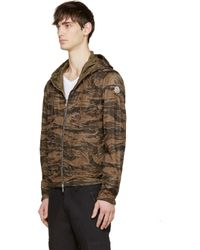 Moncler - Brown Camo Reversible Jacket for Men - Lyst