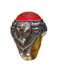 Queensbee - Multicolor Bull Year Ring - Lyst