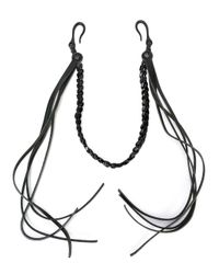DSquared²   Black Braided Key Chain for Men   Lyst