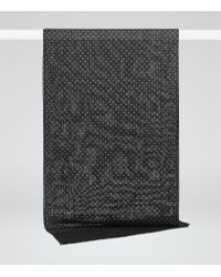 Reiss - Black Fermo Spotted Scarf for Men - Lyst