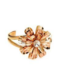 Henri Bendel - Metallic Flower Cuff Bracelet - Lyst
