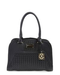 CXL by Christian Lacroix - Black 'bellflower' Woven Faux Leather Tote - Lyst