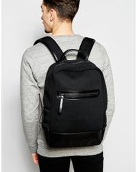 ASOS - Backpack In Scuba - Black for Men - Lyst
