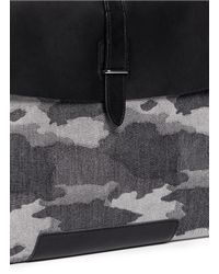 Seventy Eight Percent - Gray 'leo' Camouflage Canvas Document Holder for Men - Lyst