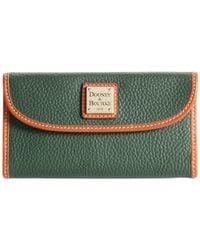 Dooney & Bourke | Green Pebble Continental Clutch | Lyst