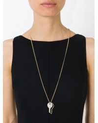 Marc By Marc Jacobs | Metallic Key Pendant Necklace | Lyst