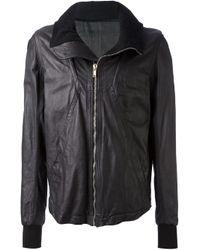 Rick Owens - Black Calf Leather Jacket for Men - Lyst