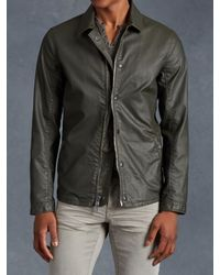 John Varvatos | Green Cotton Zip Jacket for Men | Lyst