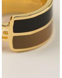 Fendi - Black Patterned Ring - Lyst