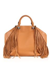Rebecca Minkoff | Brown Zip Top Mab Tote - Seashell | Lyst