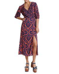 Plenty by Tracy Reese - Pink Paisley Rayon Midi Dress - Lyst