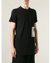 DRKSHDW by Rick Owens   Black 'level' Printed T-shirt for Men   Lyst