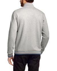 HUGO - Gray Heritage Zip-front Hoodie for Men - Lyst
