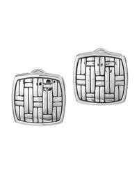 John Hardy - Metallic Bedeg Silver Square Earrings - Lyst