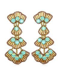 Suzanna Dai | Blue Tunis Drop Earrings, Gold/seafoam | Lyst