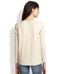 The Kooples - Natural Wool & Cashmere Zip Sweater - Lyst