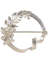 Alex Monroe - Metallic Silver Ribbon Loop Brooch - Lyst
