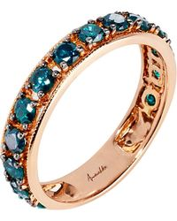 Annoushka | Blue Dusty Diamonds 18ct Rose-gold And Diamond Eternity Ring - For Women | Lyst