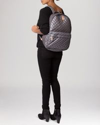 MZ Wallace | Gray Backpack - The Metro | Lyst