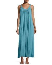 Donna Karan - Blue Long Pima Cotton Nightgown - Lyst