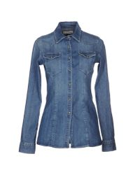 Dondup - Blue Denim Shirt - Lyst