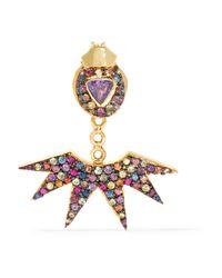 Daniela Villegas | Metallic Pow Wow 18-karat Gold Sapphire Earring | Lyst