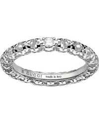 Gucci | Metallic Diamantissima 18ct White-gold And Diamond Ring | Lyst