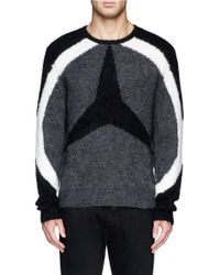 Neil Barrett - Gray Arc And Three-point Star Front Sweater for Men - Lyst