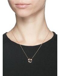 Ruifier - Metallic 'shades' Diamond Quartz 9k Rose Gold Necklace - Lyst