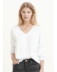 Violeta by Mango - White Lightweight Cotton Blouse - Lyst