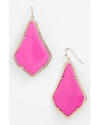 Kendra Scott - Purple 'alexandra' Large Drop Earrings - Lyst