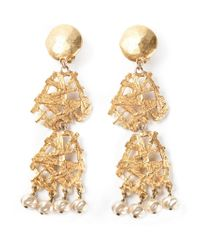 Christian Lacroix - Metallic Arabesque Baroque Earrings - Lyst