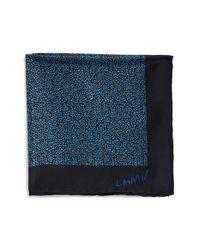 Lanvin - Black Print Silk Pocket Square for Men - Lyst