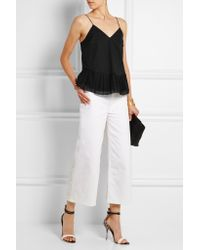 J.Crew - Black Melinda Cotton-voile And Organza Camisole - Lyst