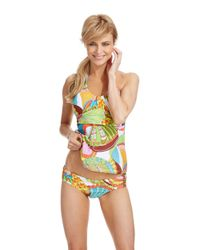 Trina Turk | Multicolor Santa Cruz Swim Tankini Top | Lyst