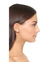 DANNIJO Metallic Thales Earrings - Clear/gold
